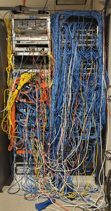 Messy IT Network Room